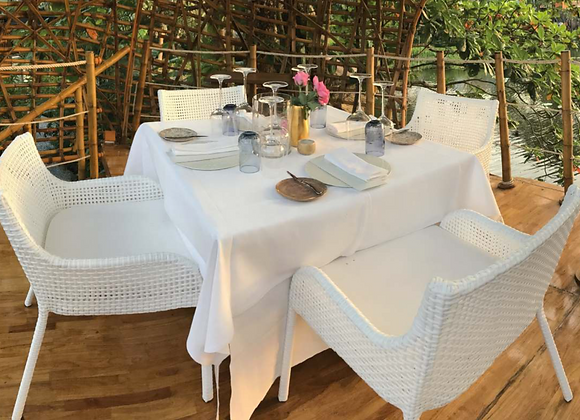 Nepal Dining Outdoor Chairs w/ Table Set For 4 persons
