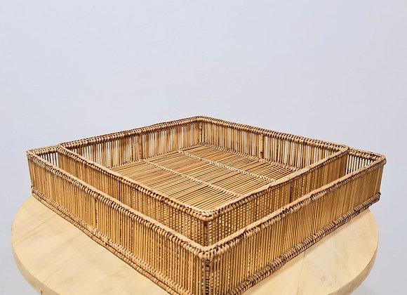 Square Rai Bamboo Tray Set of 2