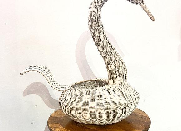 Swan Basket (White Wash)