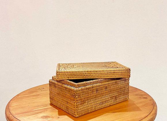 Rattan Rectangular Box 30x20x15 cm