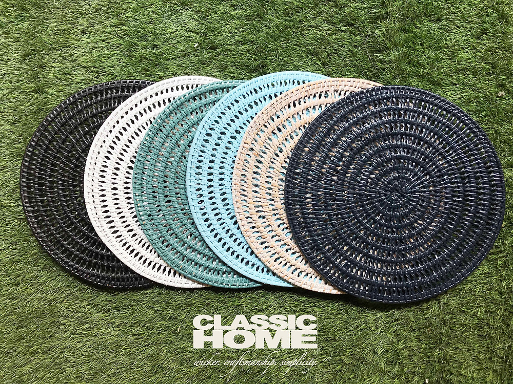 rattan underplates coloured classic home myanmar