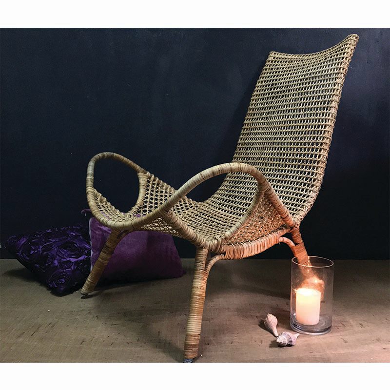 LOTUS CAR Rattan Lounge Chair