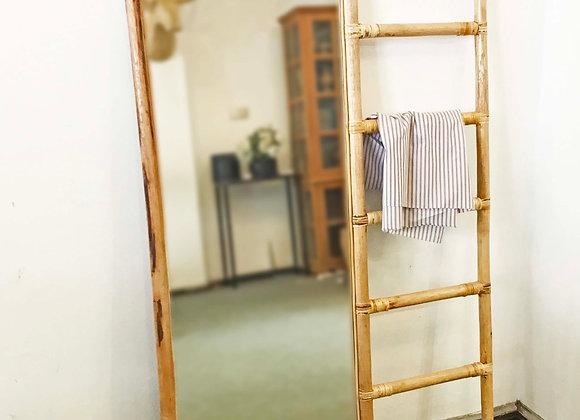 Hanger Rattan Floor/Standing Mirror