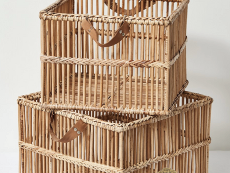 Hand-woven Rattan Baskets from Myanmar Villages