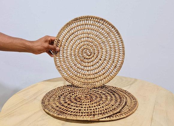 Round Rattan Placemat Dia35 cm