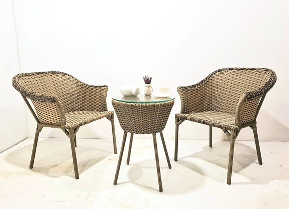 Eve Outdoor Chairs w/ Table Set
