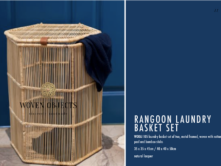 Rangoon Collection: Bamboo storage and planter baskets