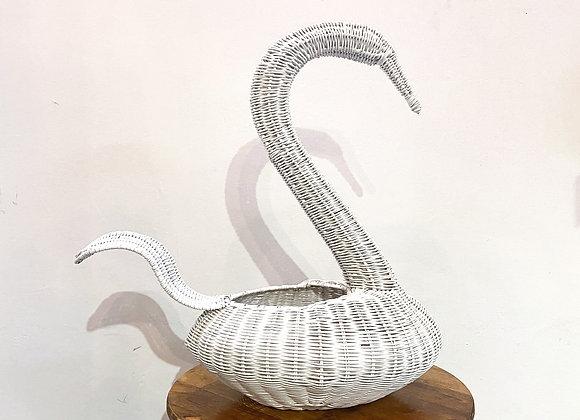 Swan Basket (White)