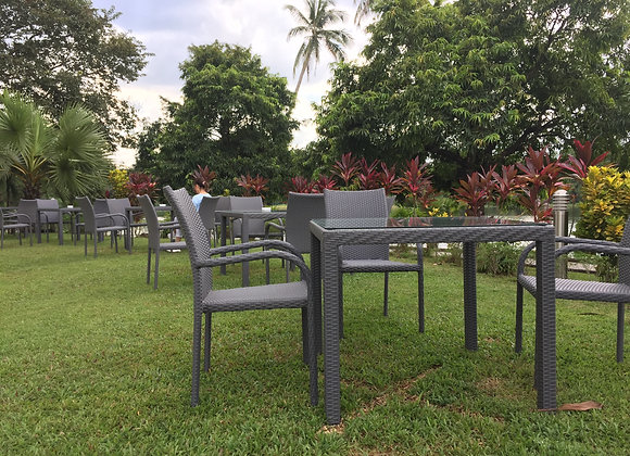 Richy Dining Outdoor Chairs w/ Table Set For 4 persons
