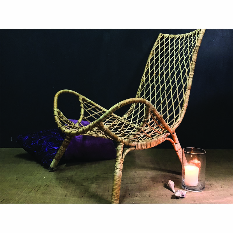 LOTUS KNOT Rattan Lounge Chair
