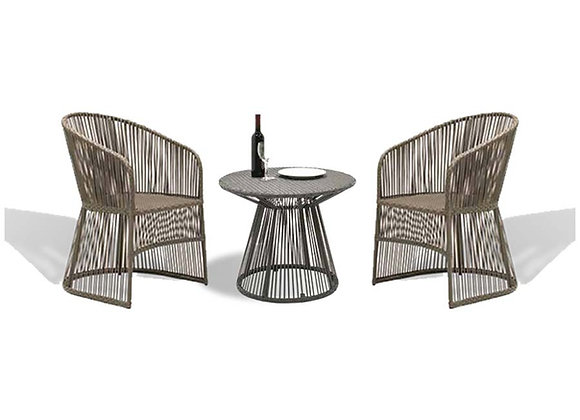 Pegu Dining Outdoor Chairs w/ Table Set