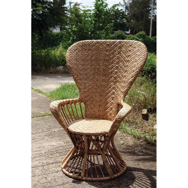 AUDREY Rattan High Lounge Chair