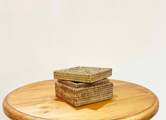 Rattan Square Box (S) 18x18x10 cm