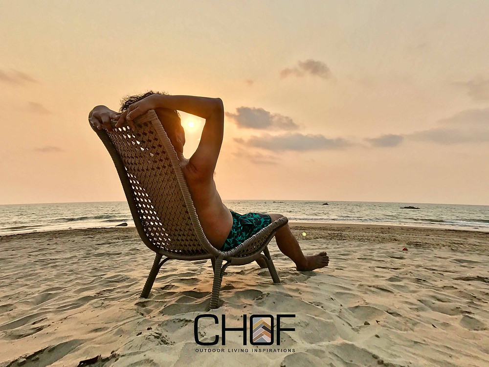 outdoor lounge chair hand-made in myanmar by classic home