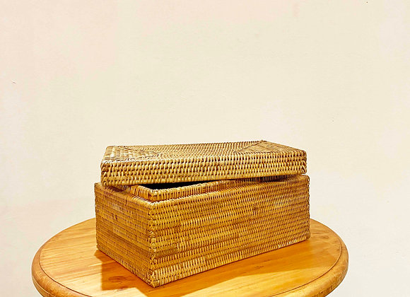 Rattan Rectangular Box 40x25x20 cm