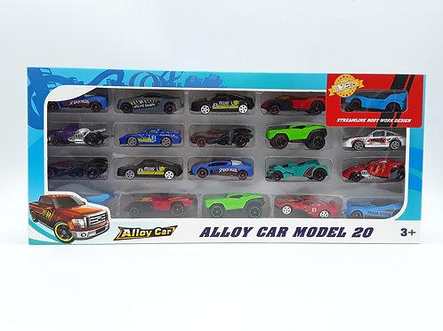 ALLOY CAR SET 20PK