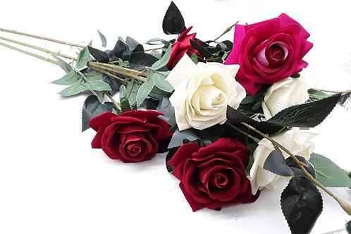 Flores artificiales rosas