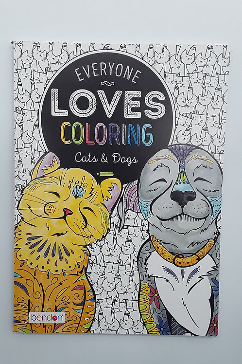 ADULT COLORING BOOKS: CATS & DOGS
