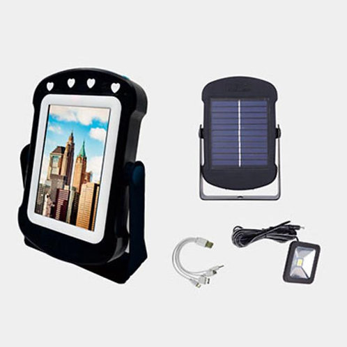 PANEL SOLAR CON ESPEJO MULTI-FUNCTION SOLAR MIRROR POWER BANK W LED LIGHT