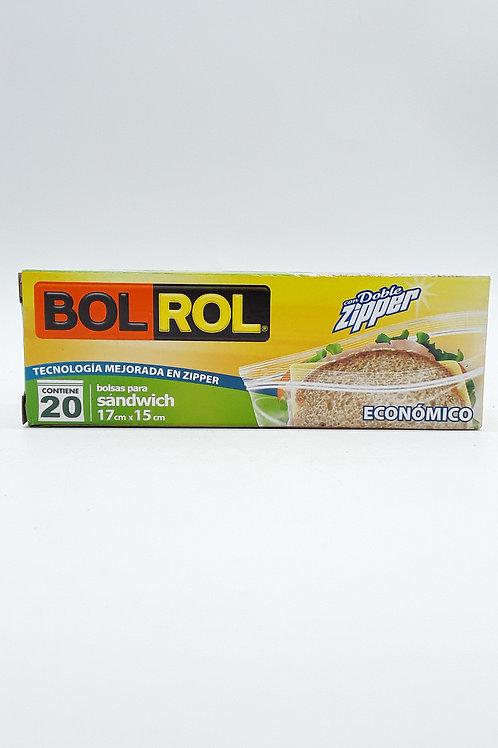 BOLROL SANDWICH ZIPPER ECONOMICO 20 PCS