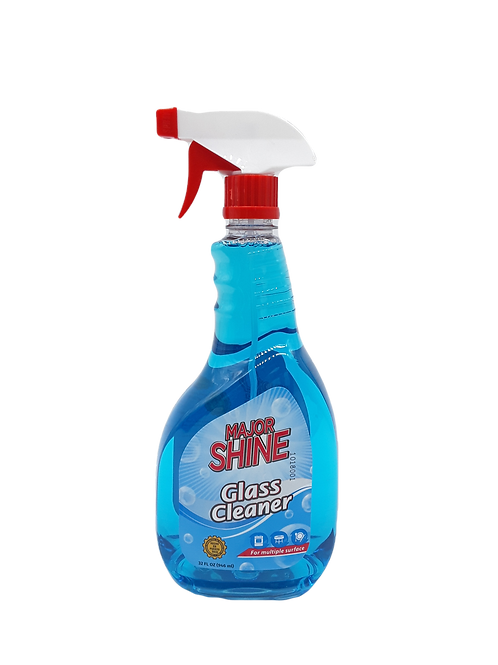 MAJOR SHINE GLASS CLEANER 32 OZ