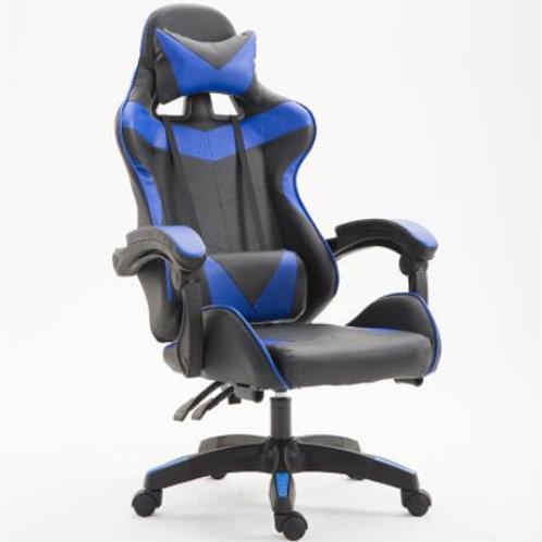 SILLA PARA JUEGOS DE PC, SILLA ERGONOMICA DE COMPUTADORA  AZUL, GAMER CHAIR BLUE