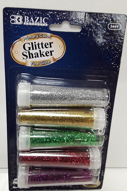 5 PRIMARY COLOR GLITTER SKAKER