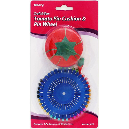 ALLARY TOMATO PIN CUSH& PIN WHEEL