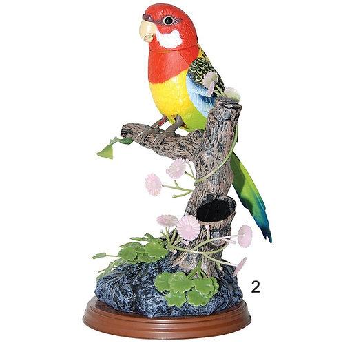 BEAUTIFUL BIRD SET Electric Talking Repeating Parrot Bird Pen Pencil Container