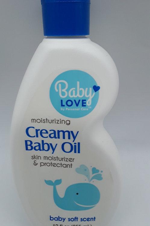 BABY CREAMY OIL 12OZ
