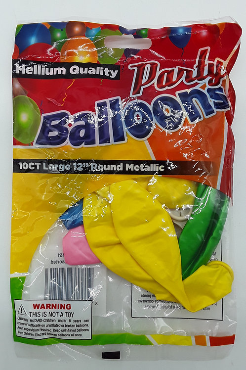 GLOBO PEARLIZED ASSORTED 10CT