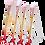 Thumbnail: BROCHAS SIRENA MERMAID MAKE UP BRUSH SET 4PC