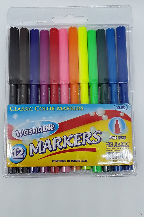 12 FINE LINE WASHABLE WATERCOLOR MARKERS
