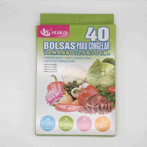 BOLSAS PARA CONGELAR 25X30