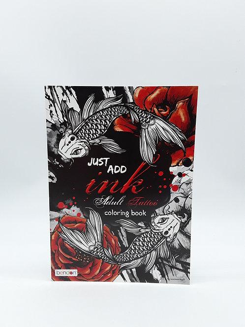 ADULT TATTOO COLORING BOOK / LIBRO DE PINTAR
