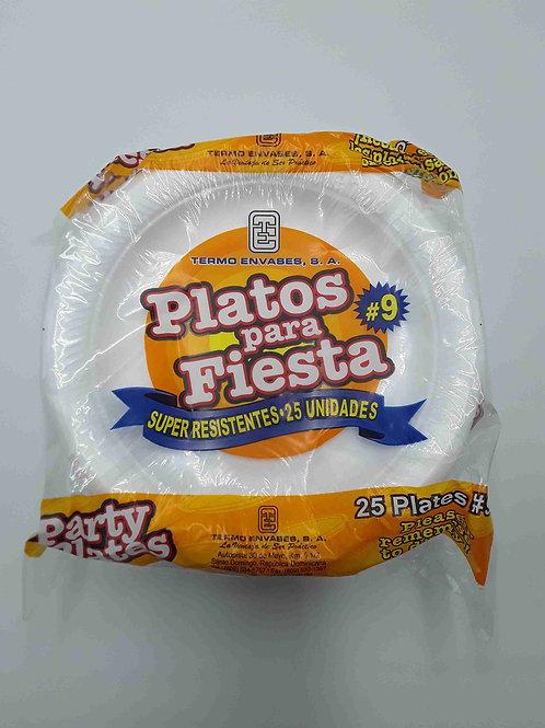 """PLATO FOAM 9"""" 25 PCS"""