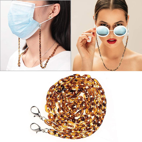 FACE MASK, SUNGLASSES AND READING GLASSES KEEPERS , ACRYLIC MASK SAFETY NECKLACE