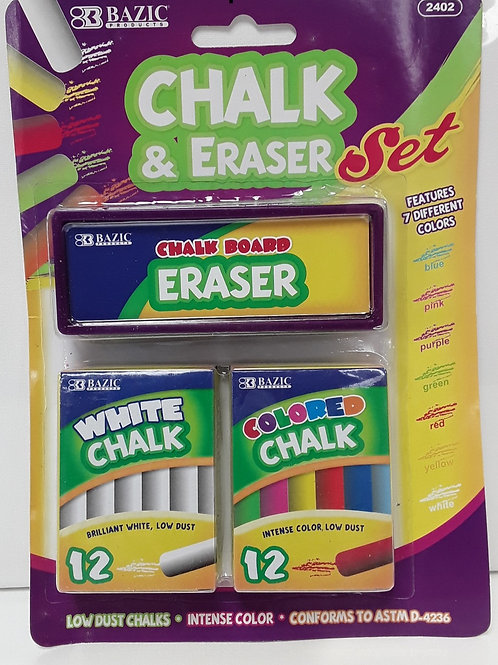 CHALK & ERASER SET 2402