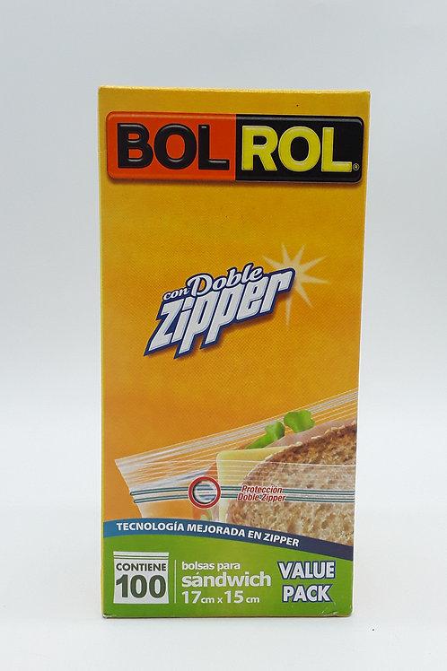 BOLROL SANDWICH ZIPPER VALUE PACK 100 PCS