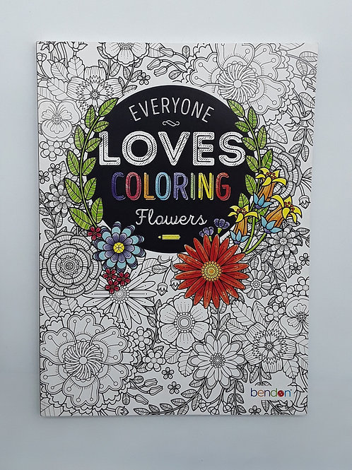 ADULT COLORING BOOKS: FLOWERS