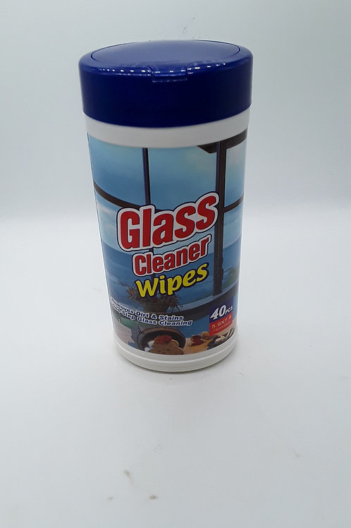 GLASS CLEANER WIPES 40CT