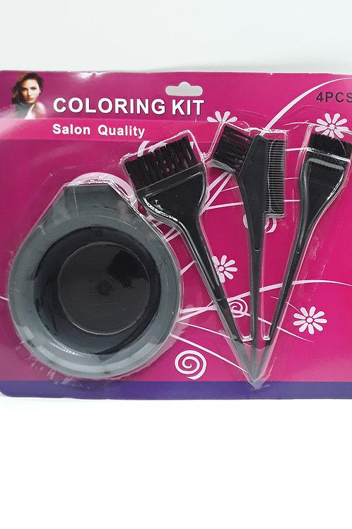 HAIR COLORING KIT 4PCS