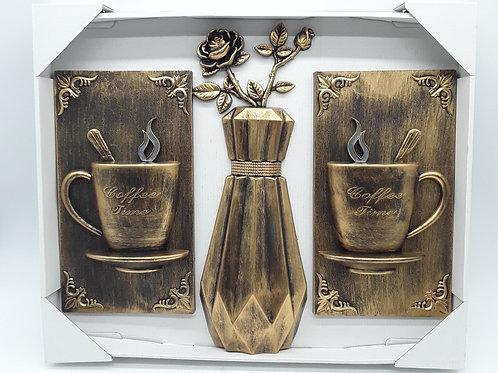 COFFEE WALL CLOCK DECO PLACAS DECORACION DE PARED CAFE 24*12 IN