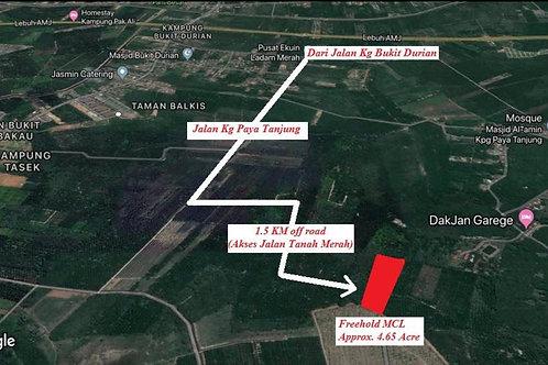 4.65 Ekar Tanah Pertanian Kg Paya Tanjung Umbai Melaka