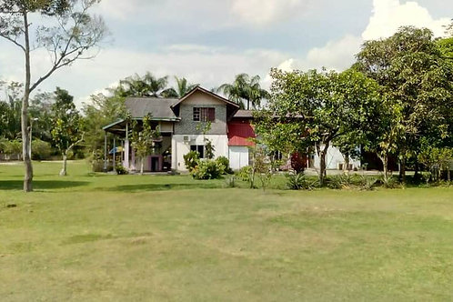 Tanah Dusun 3.15 Ekar bersebelahan Sungai beserta Banglo & Homestay Resort di Si
