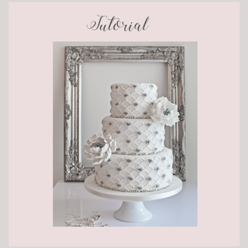 Silver Scalloped Wedding Cake Tutorial