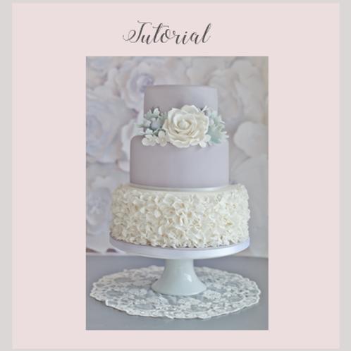 Dove Grey Wedding Cake Tutorial