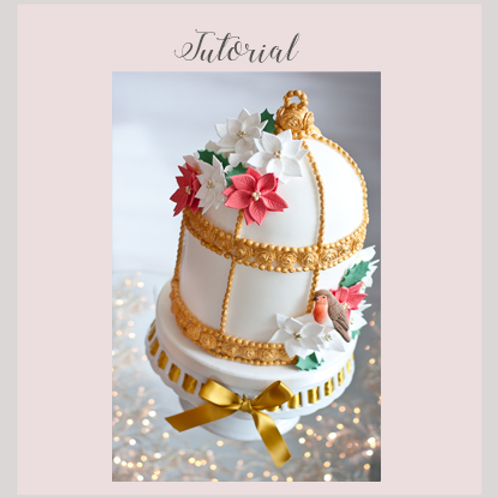 Christmas Birdcage Cake Tutorial