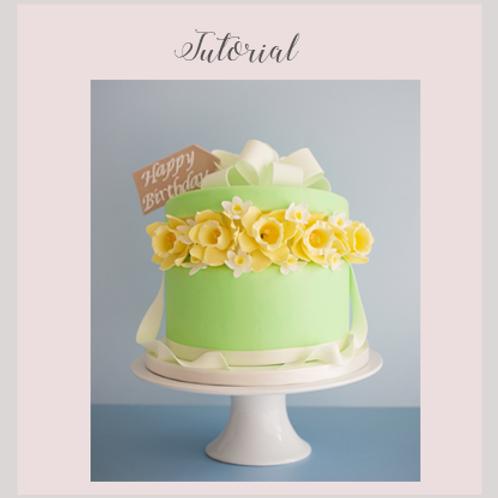 Daffodil Birthday Cake Tutorial