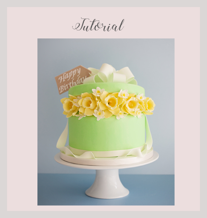 32 30 Step By Instructions And Photos Show You How To Make Our Daffodil Birthday Cake